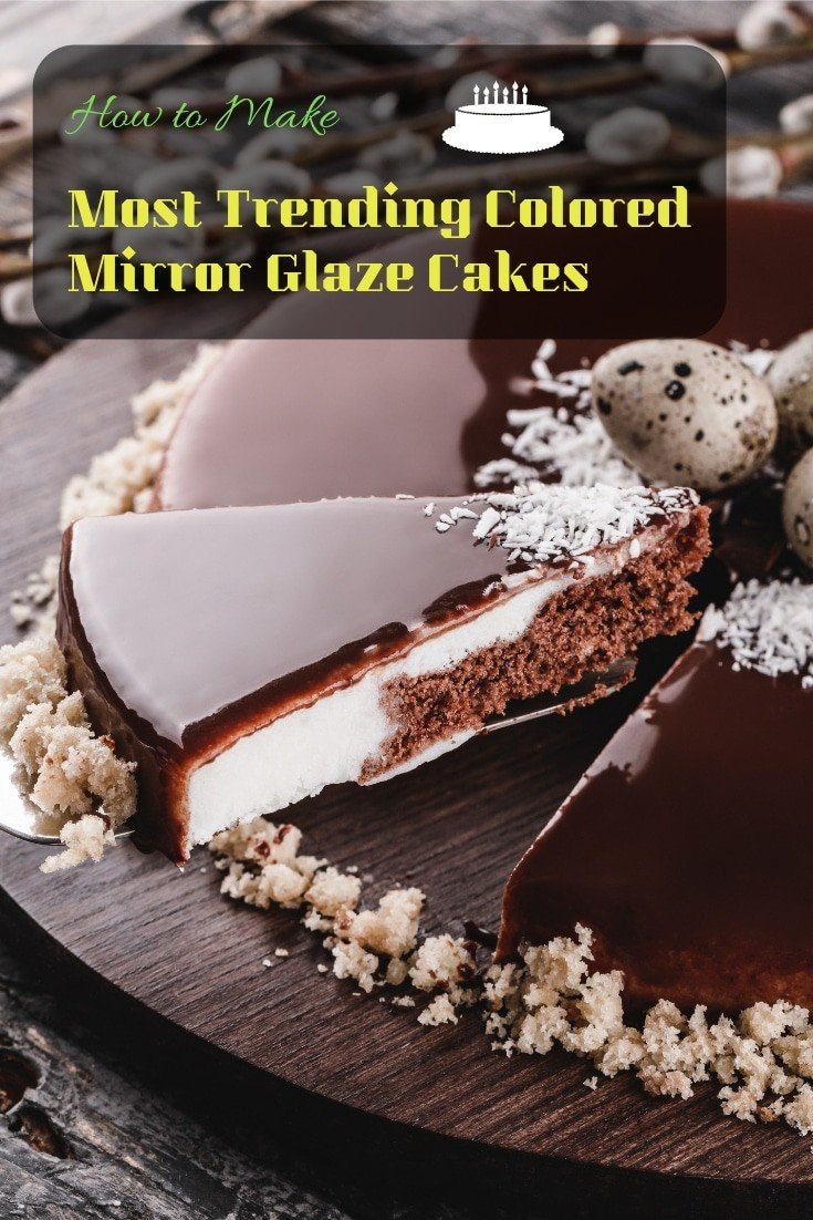 How to make the most trending colored mirror glaze #cakes.