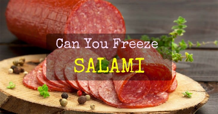 can you freeze salami