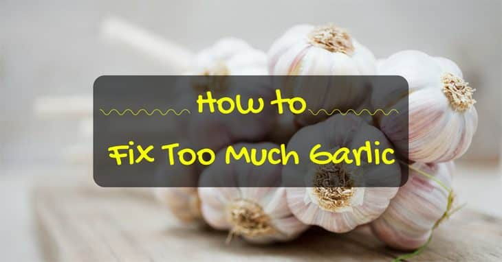 how to fix too much garlic