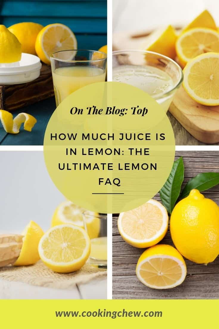 How much juice is in #lemon: The ultimate lemon FAQ! Is lemon juice in a bottle the same as fresh? This and many more Q\'s.