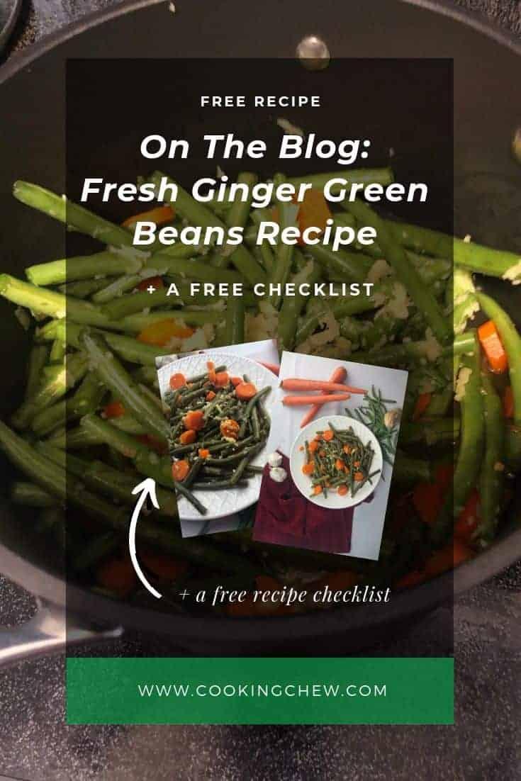 Fresh Ginger Green Beans Recipe
