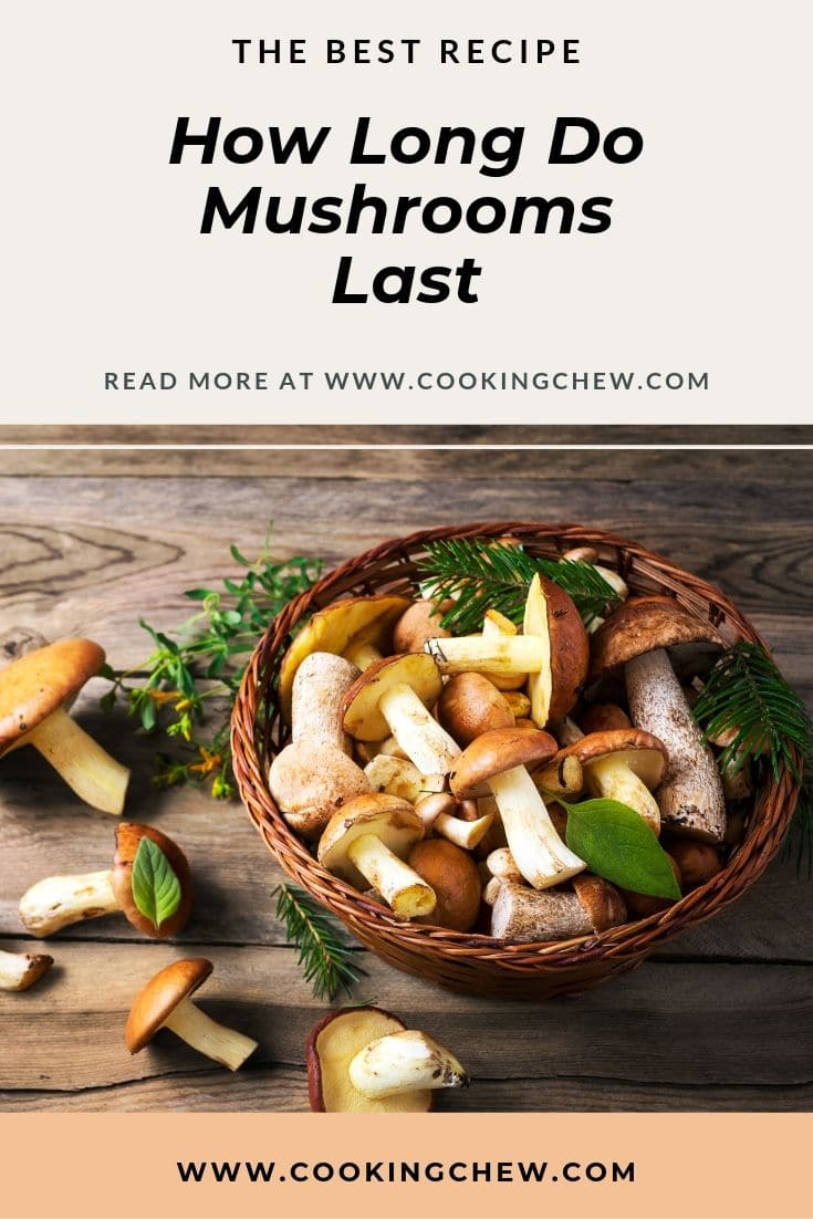 How long mushrooms last depend upon how they are stored and what kind it is. Whole fresh mushrooms last longer in the fridge than sliced mushrooms do. Read for the tips. #foodblogger #foodblog #FoodPrep