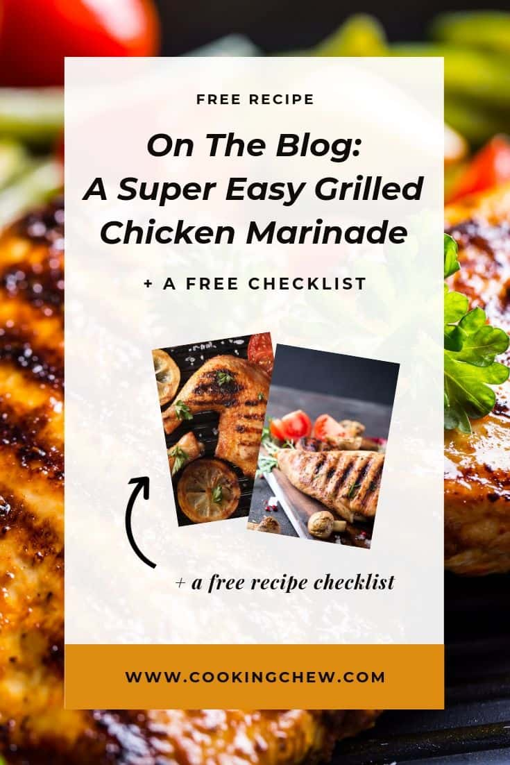 The trick to an easy dinner is a simple grilled chicken marinade. How to keep grilled chicken moist? We had this exact grilled chicken marinade recipe for dinner last night.