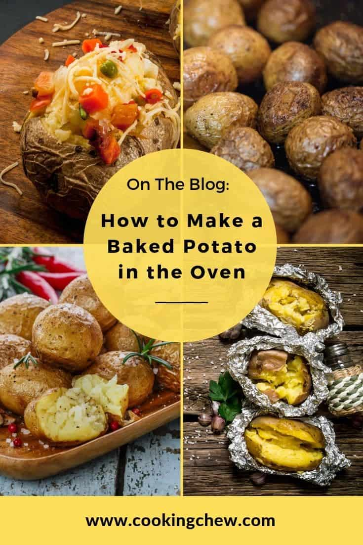 If you are in a hurry, the easiest way to cook a baked potato in the oven is to preheat the oven to 410 degrees, poke some holes in the potato and bake it for an hour. If you want a baked potato that everyone will brag about, read on. #foodie #fblogger #diner