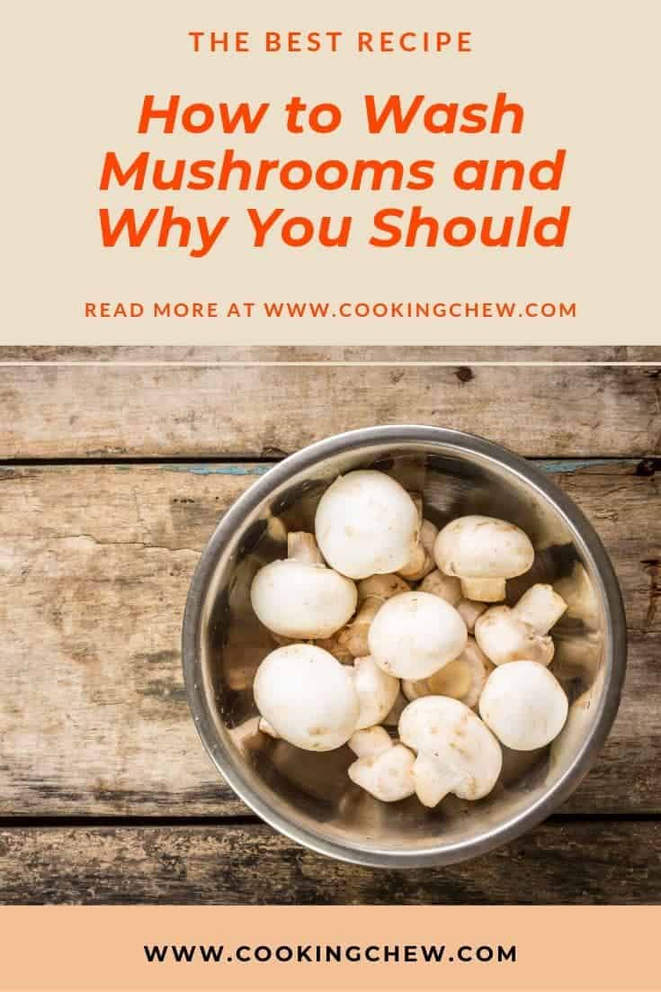 We believe that the best way to wash a mushroom is to drop them in a cold bowl of water. Then swish the mushrooms around rigorously. #cooking #kitchenhacks