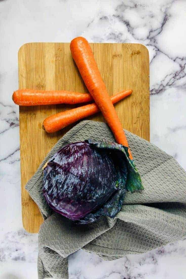 This recipe is a friggin delicious Asian slaw that you will love crunching down on. It is a fantastic side dish that goes great with meatballs or grilled chicken.  #Recipes #Cooking #Vegetarian