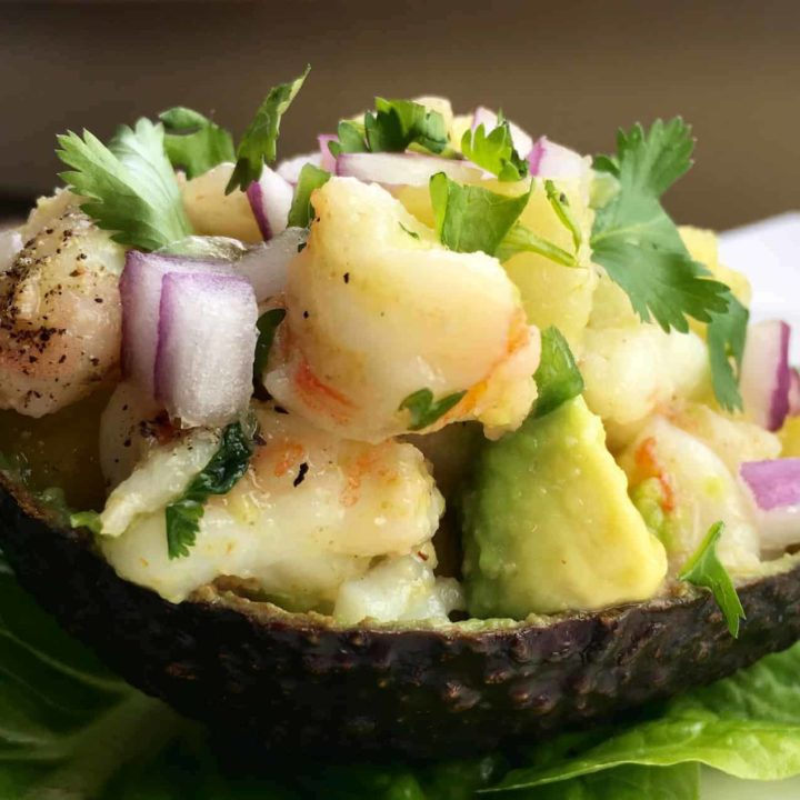 Shrimp Stuffed Avocados Recipe