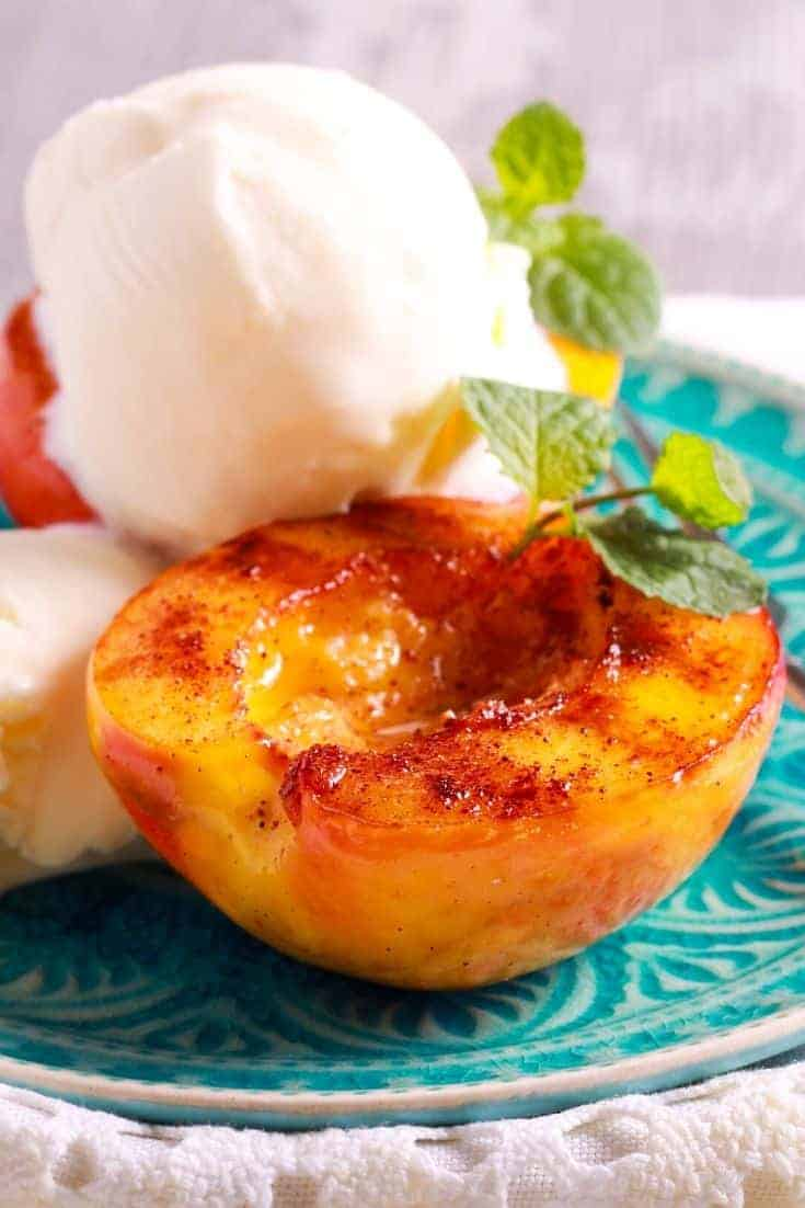Grilled peaches make for a delicious appetizer. They are delicious and succulent snacks, but if you want to elevate them, all you need is a grill!  #Grilling #Recipes #Peaches