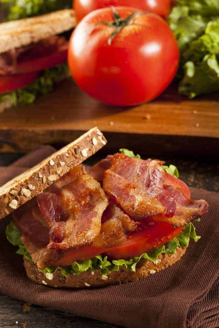 Easy and Delicious BLT Sandwich With a Twist. With a few simple ingredient swaps, you can create a BLT sandwich that you'll look forward to chowing down on!  #Bacon #Lunch #Sandwich