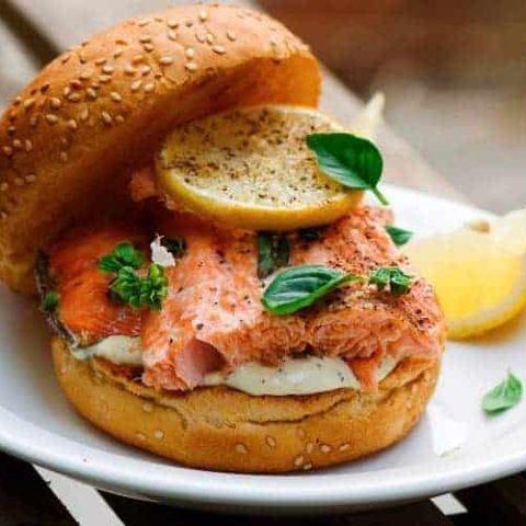 Salmon Burger Toppings